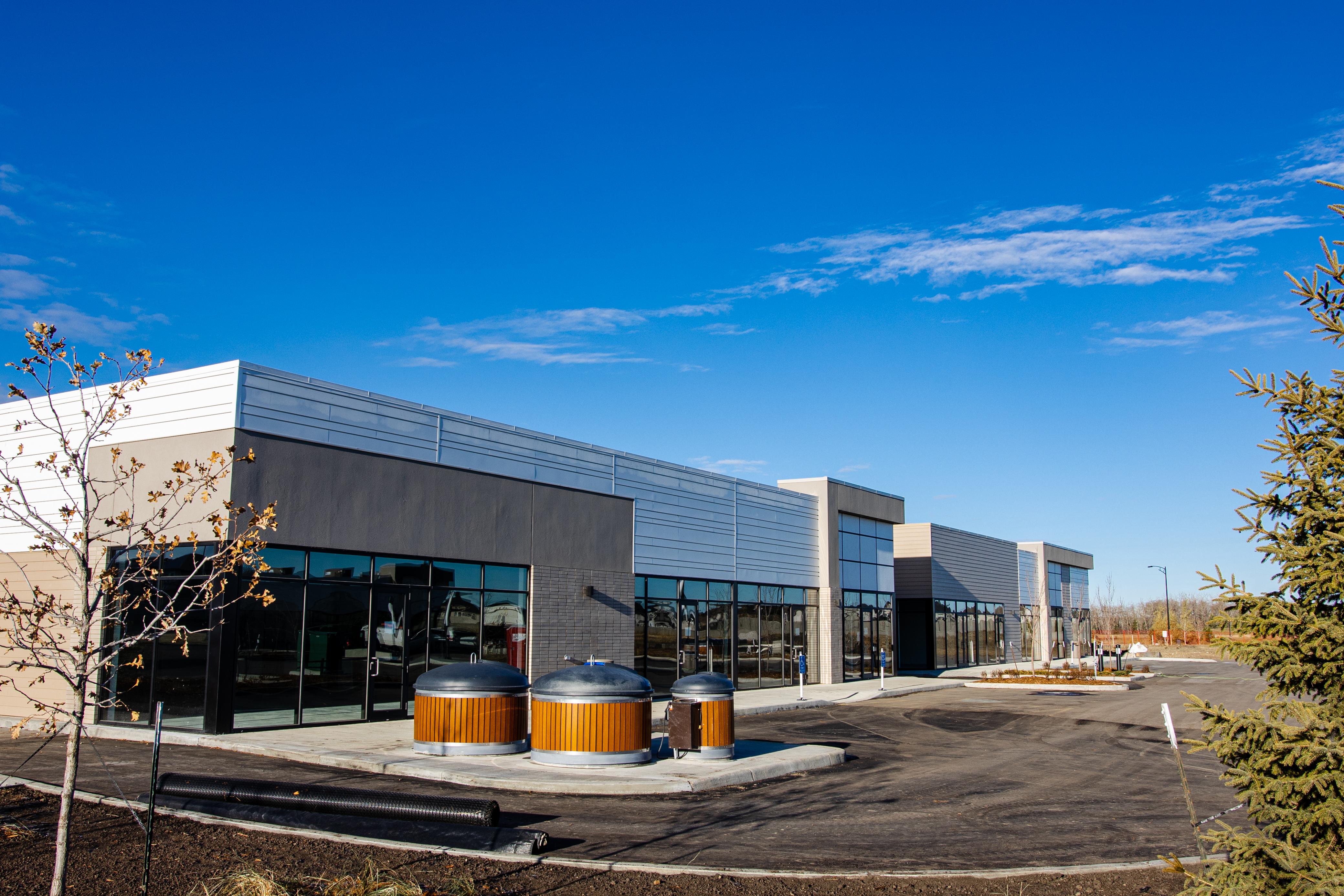 Qualico Commercial building in southwest Edmonton – Ambleside Centre and Edgemont Landing.