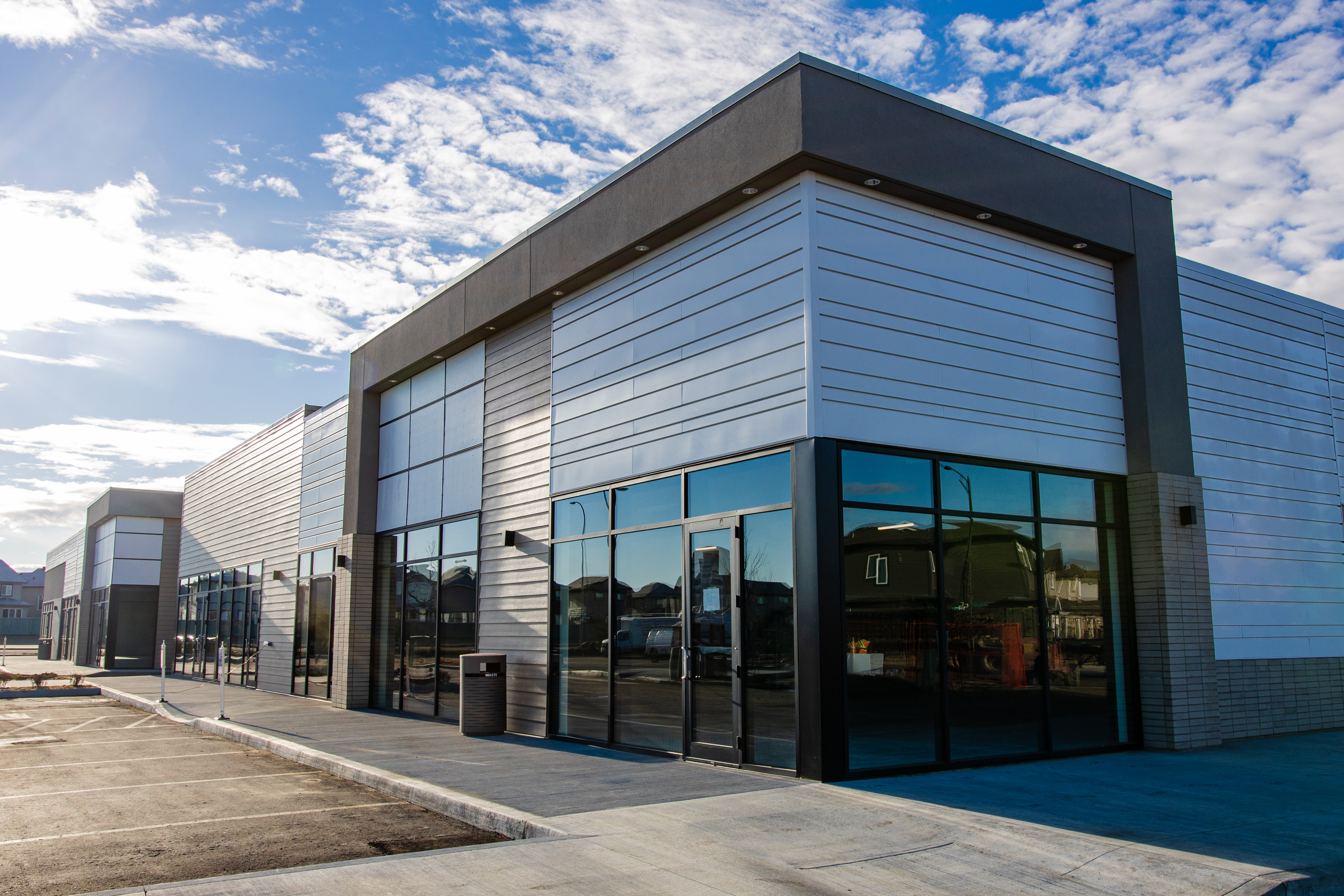 New Qualico Commercial building in southwest Edmonton – Ambleside Centre and Edgemont Landing.