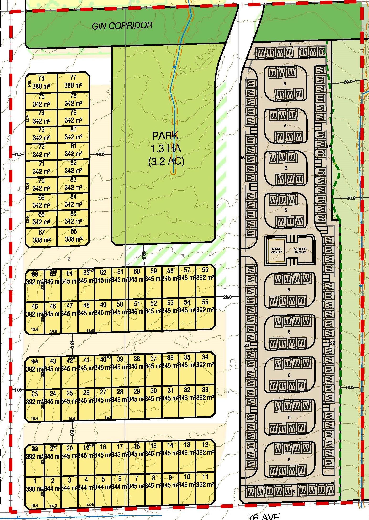 West Clayton Subdivision Concept