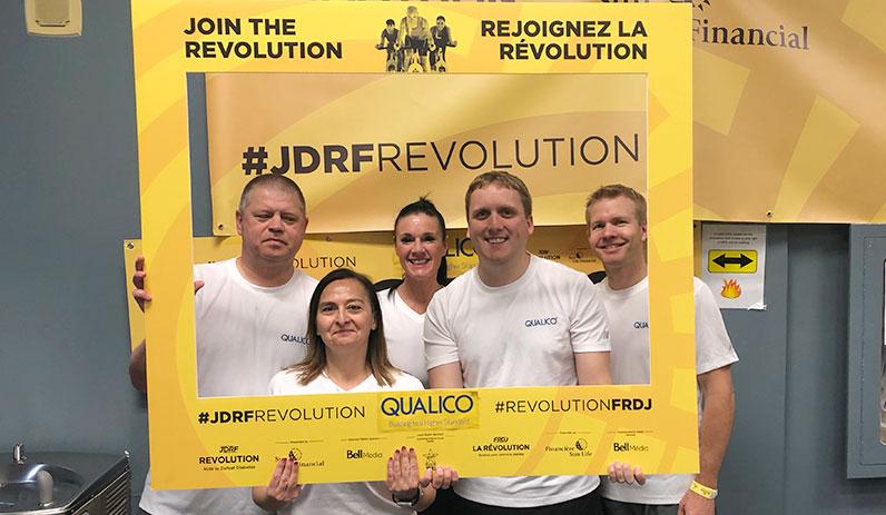 Qualico staff in Winnipeg participate in a JDRF event.