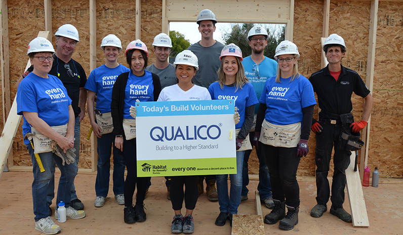 Qualico Team Building event with Habitat for Humanity