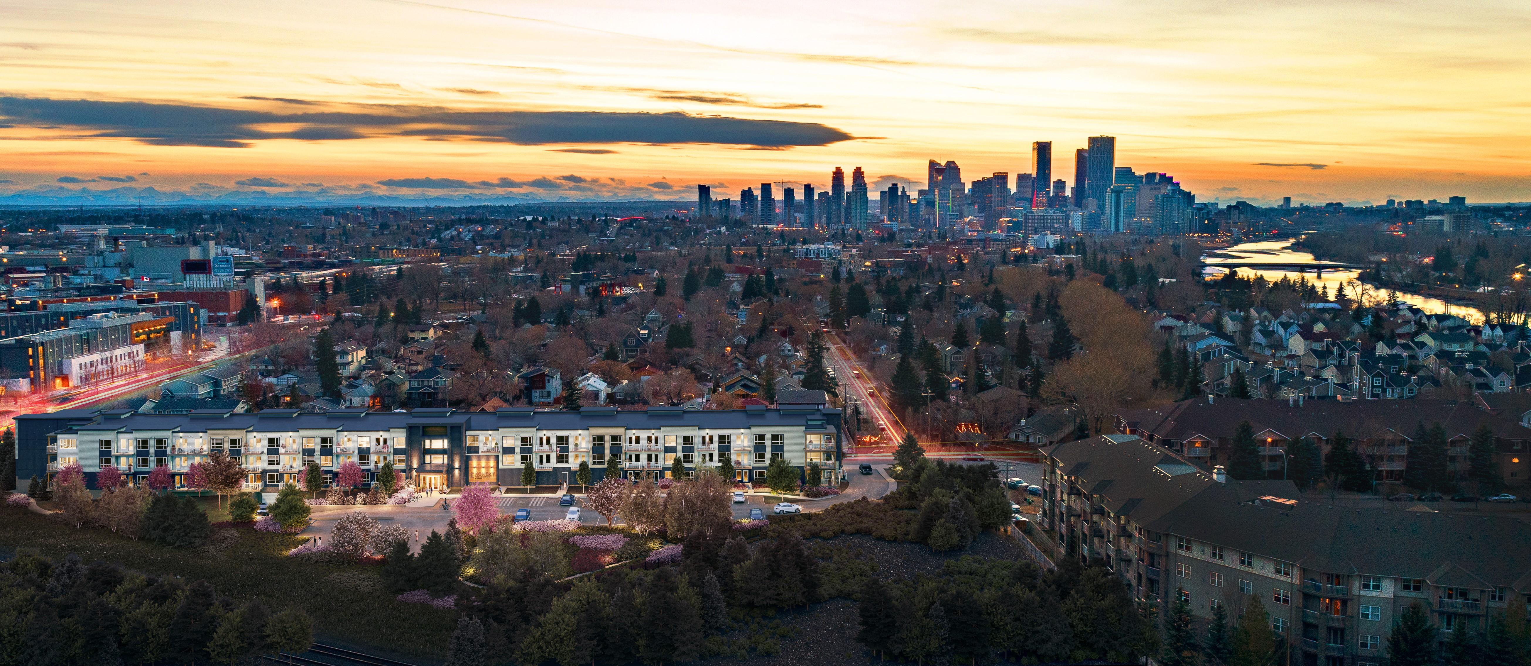Bird's eye view of Inglewood Calgary