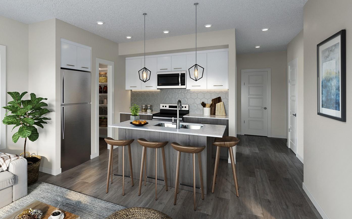 Konekt condo kitchen rendering