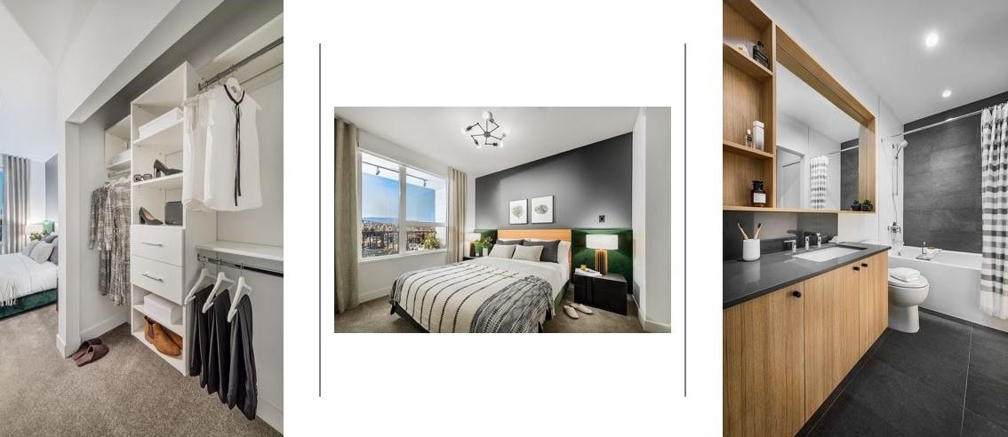 Port & Mill Condos - Bedroom