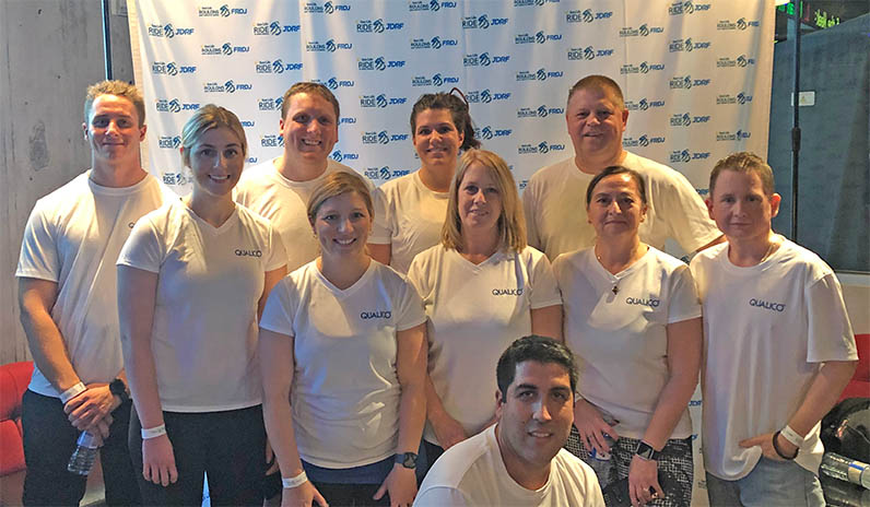 Qualico Team on Bike in support of JDRF