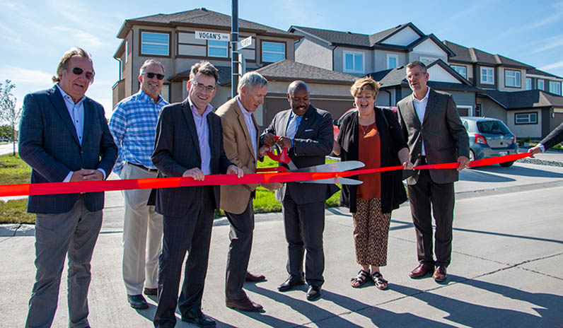 Vogans Run Ribbon Cutting By Qualico Communities Team