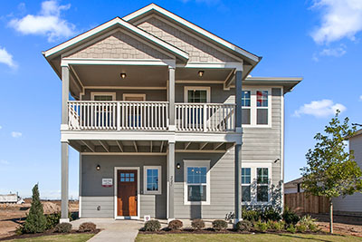 Pacesetter Homes Austin 4 Series Portico Streetview