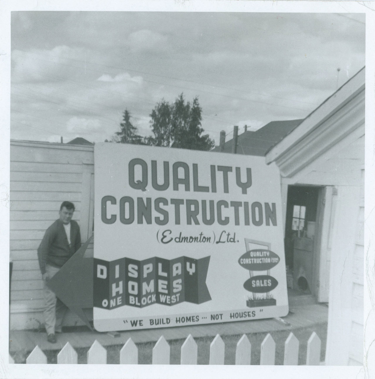 1955 Quality Construction Edmonton Sign