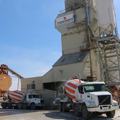 BP Trucks filling up at facility
