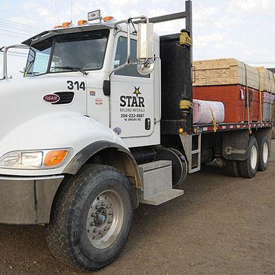 Star Building Winnipeg truck of supplies