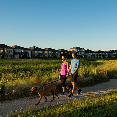 SageCreek walk trail in Qualico Community located in Winnipeg