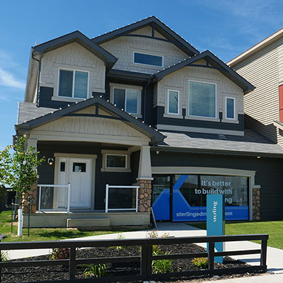 Showhome of Sterling Homes in Uplands Edmonton