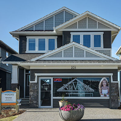 Showhome of the Hamilton with NuVista Homes in Calgary