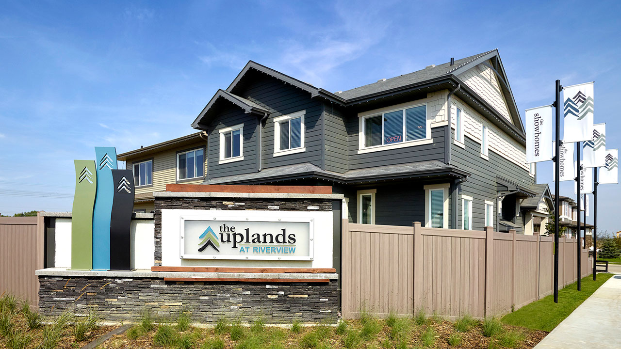 Entry Feature in Uplands at Riverview