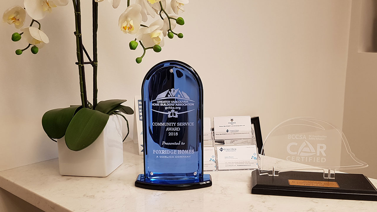 Foxridge Vancouver - GVHBA Community Service Award