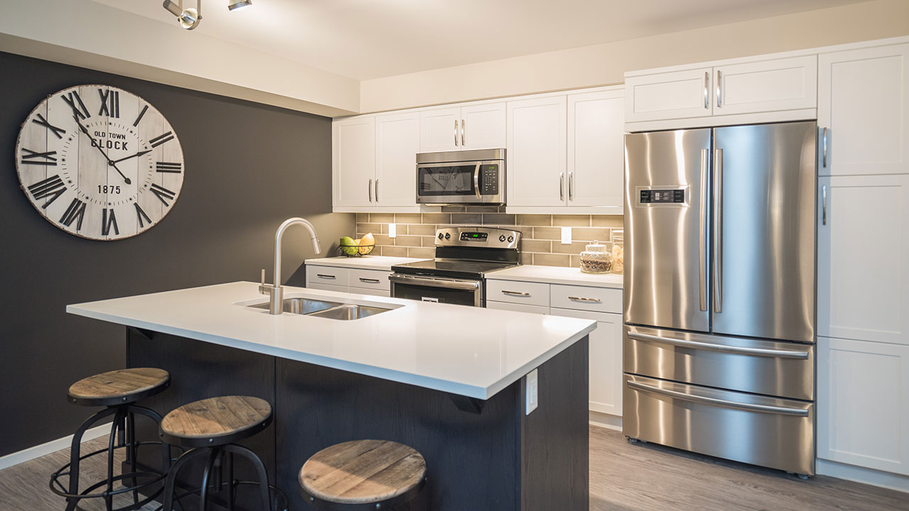 Kitchen in a model built by Streetside Developments Winnipeg