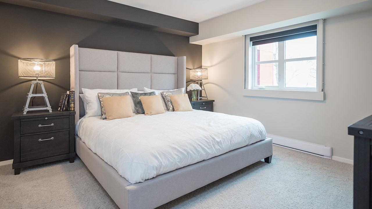 Master Bedroom in a model built by Streetside Developments Winnipeg.