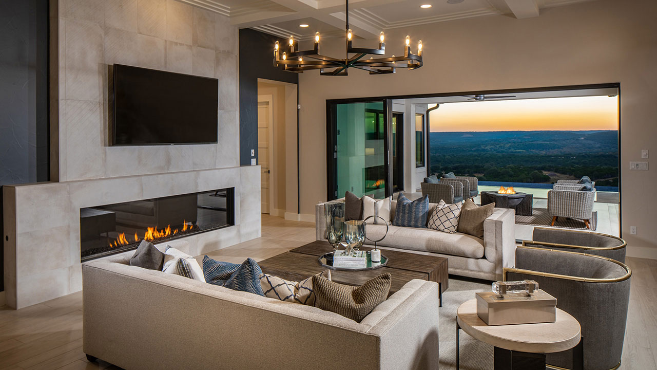 Relax and enjoy the comfort of home in the Travisso by Hill Country Artisan Homes.