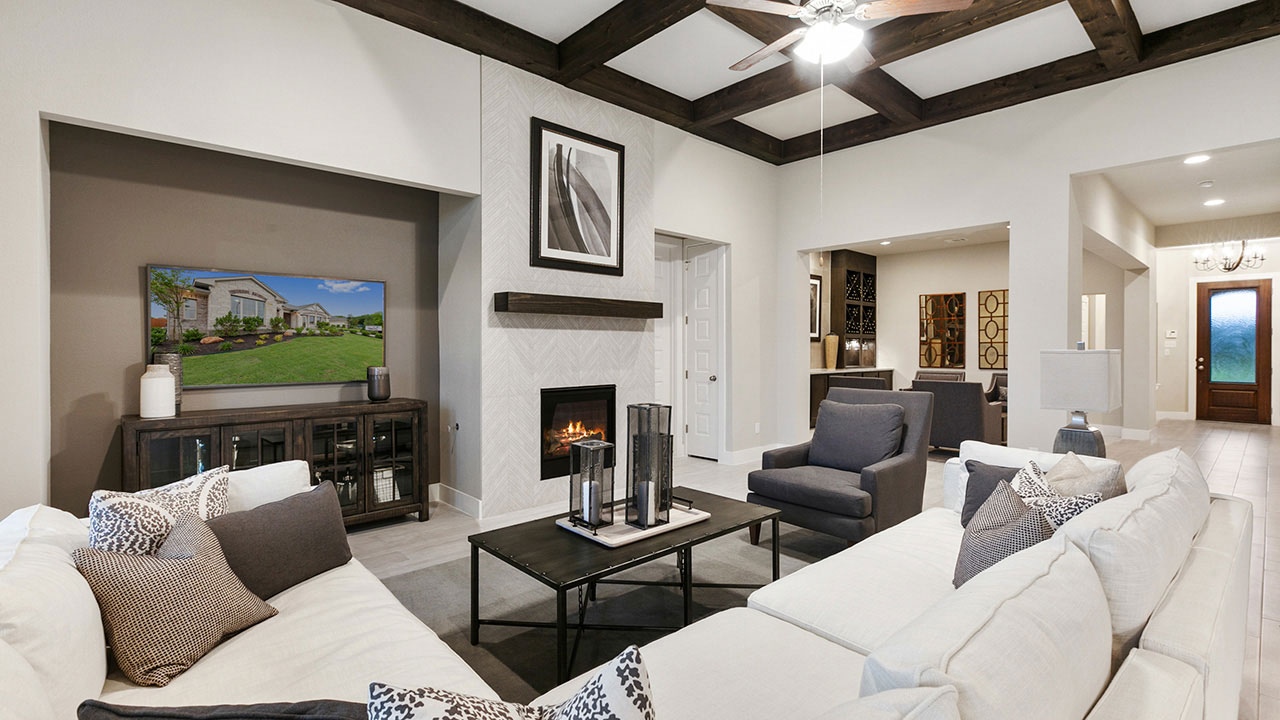 Pacesetter Texas offers homebuyers a wide variety of living room floor plans.