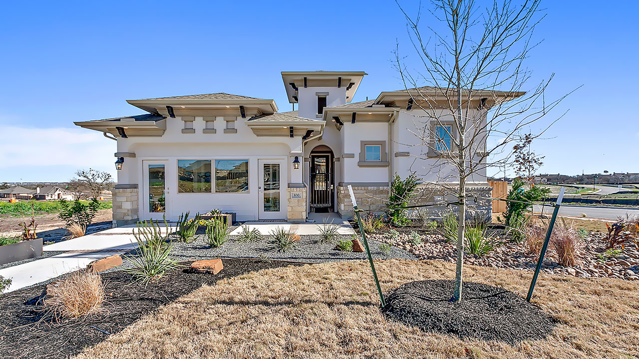 Pacesetter Homes in Austin embraces the architectural influences of the Southwest US.