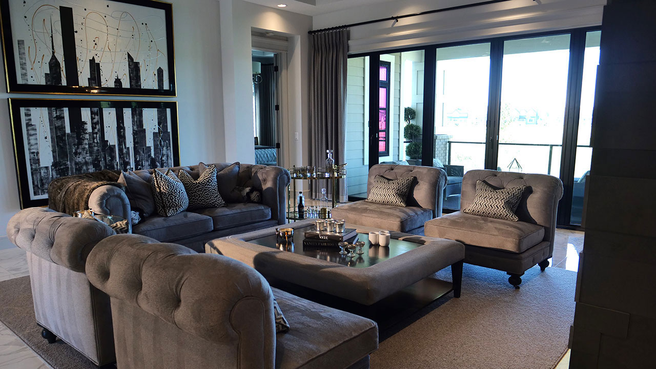 Augusta Fine Homes builds luxurious spaces, including this living room in South Calgary.