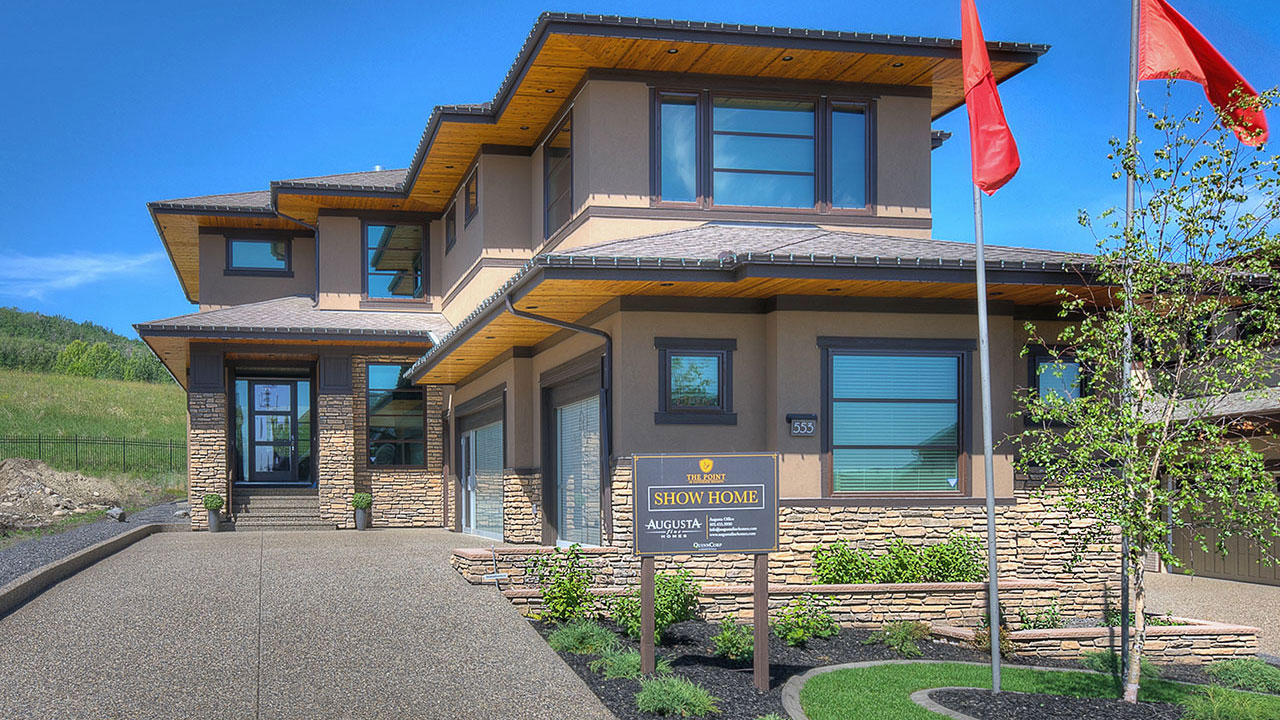 The exterior of the Kingston by Augusta Fine Homes in Calgary.