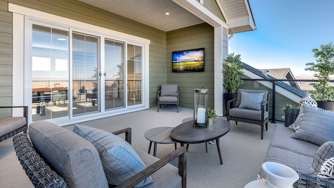 A spacious balcony in one of Broadview Homes' many models.