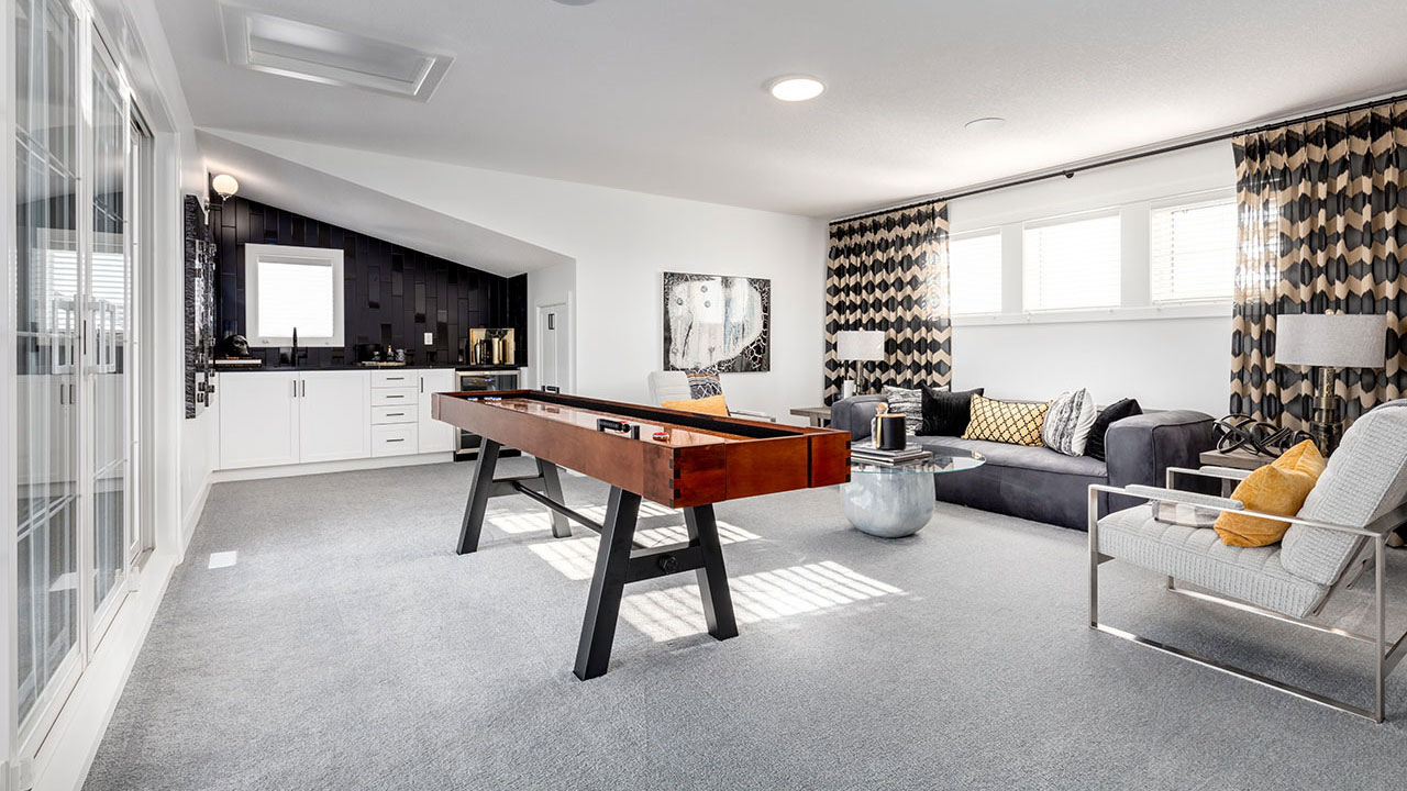 Entertain friends and family with a trendy loft in a Broadview home.