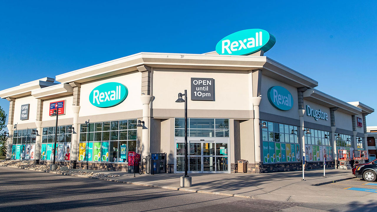 Rexall is a tenant in the community shopping district of Harvest Hills.
