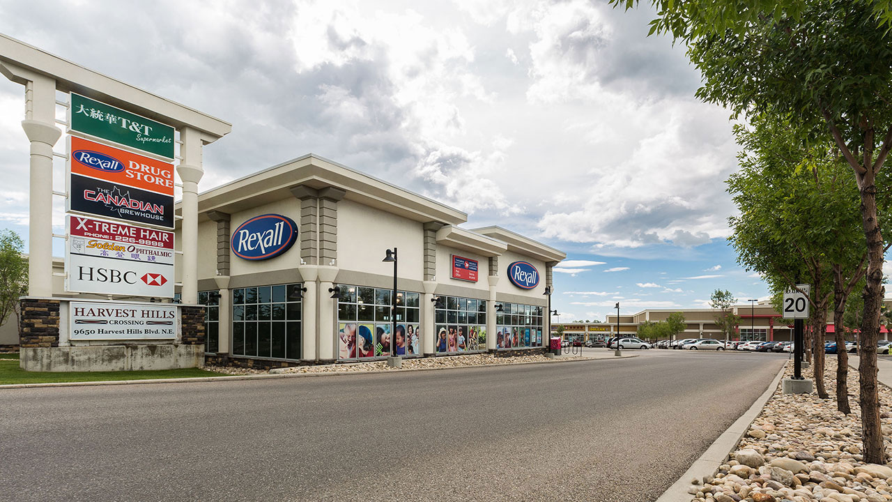 A community shopping centre located in Northwest Calgary, Harvest Hills as a wide variety of tenants.