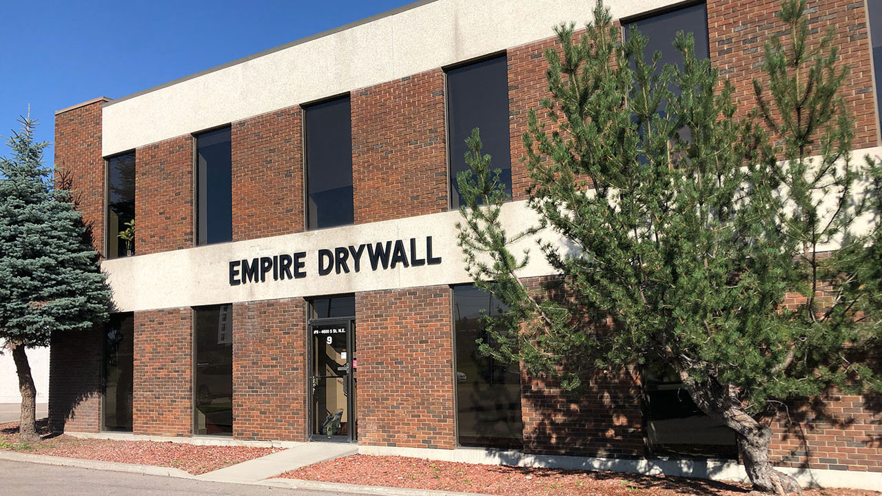 The offices of Empire Drywall in Calgary