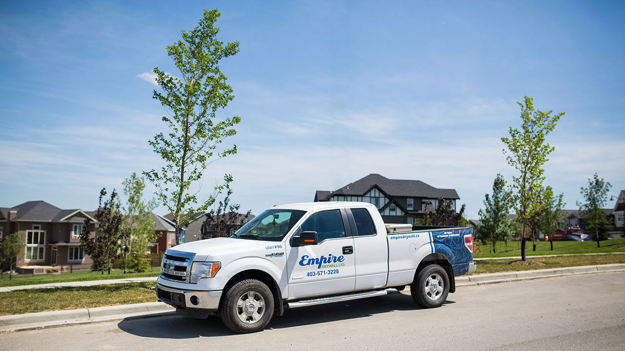 Empire Drywall has a full fleet of vehicles that allow them to easier serve their customer's needs.