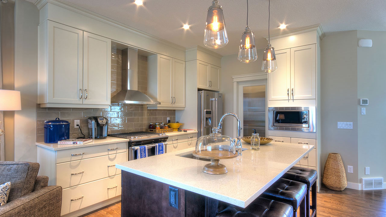 The kitchen of the Elina model home by Nuvista Homes.