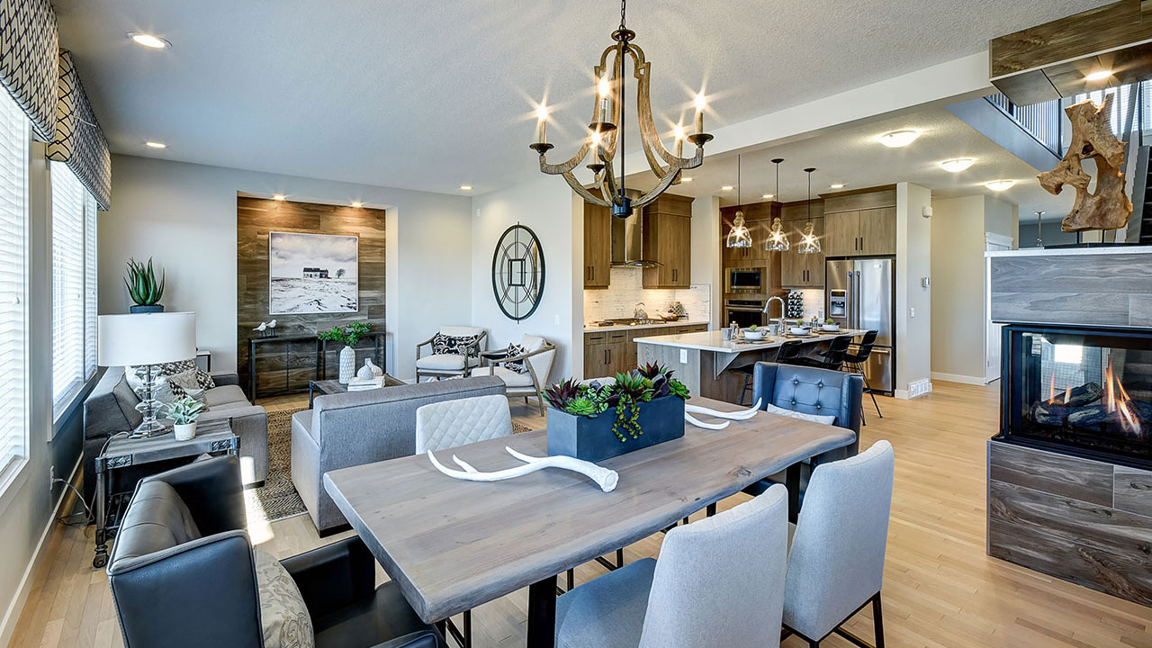 The Hamilton model by NuVista Homes offers wide open living spaces.