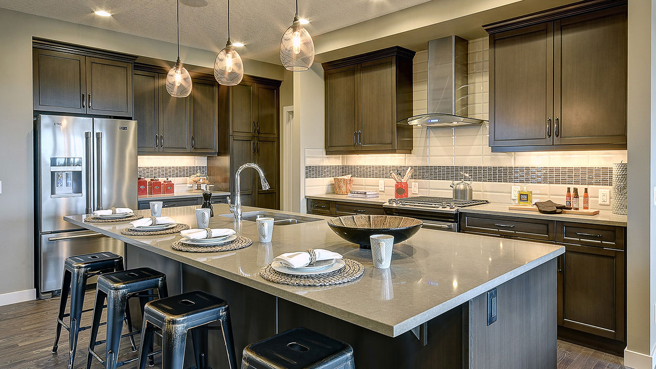 Build by NuVista Homes, the Saffron offers home buyers a spacious kitchen.