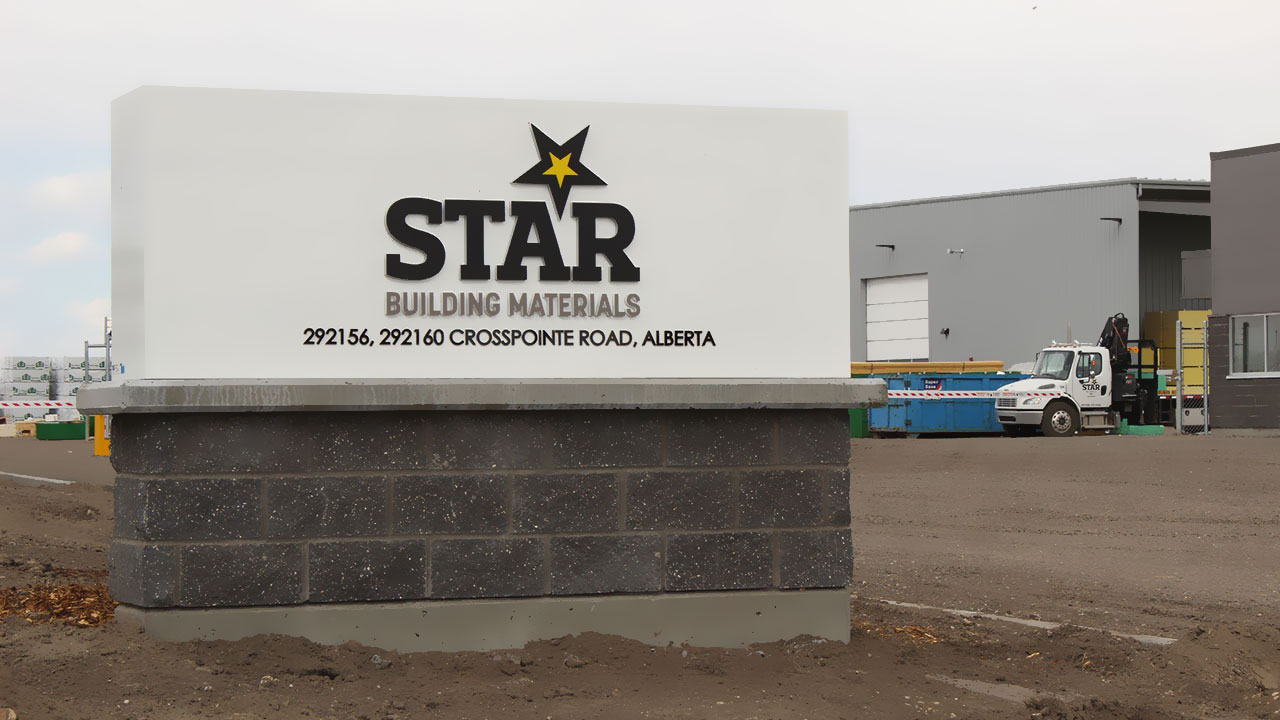 A Star Building sign welcomes visitors to the company's new facility.
