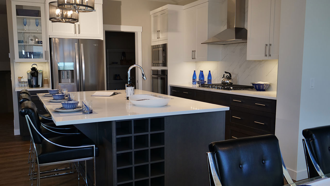 Sterling Homes in Calgary offer a wide selection of kitchen options.