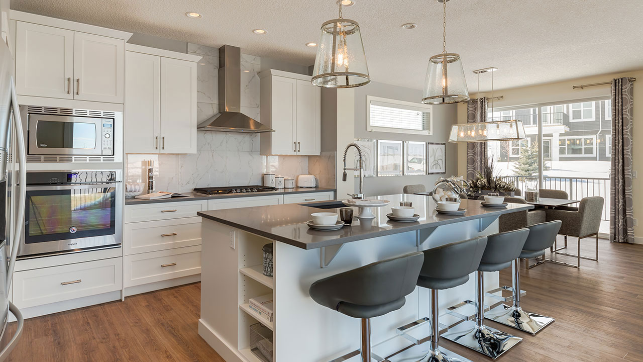 The kitchen in Sterling Homes' Carlton model provides a spacious area with lots of natural light.