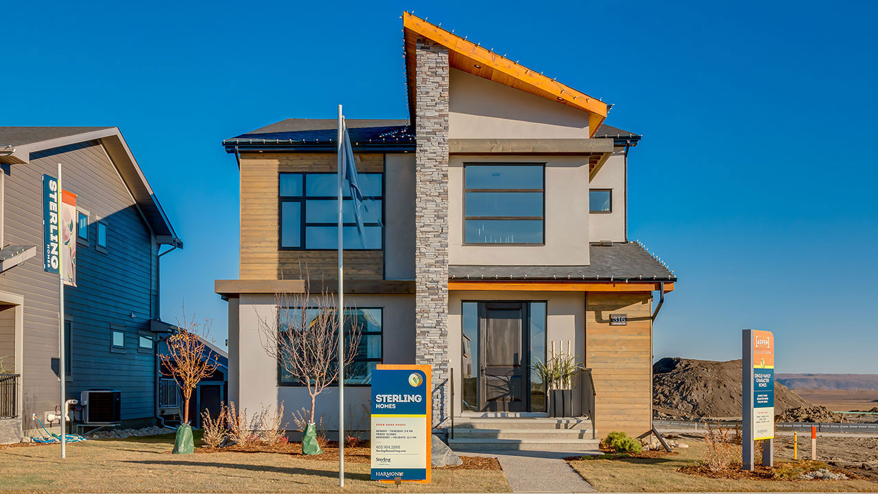 The exterior of the Chelsea showhome built by Sterling Homes in Calgary.