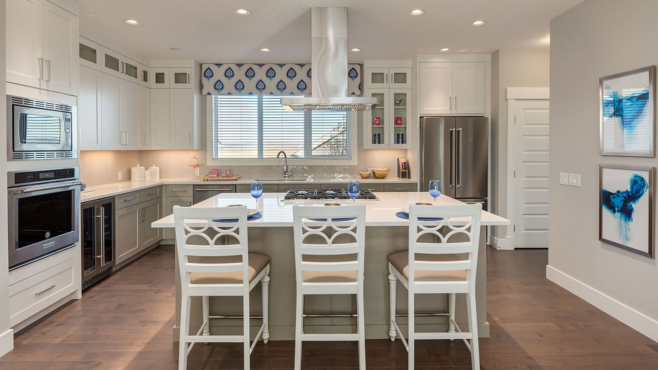 The kitchen in the McKinley showhome, built by Sterling Homes in Calgary.