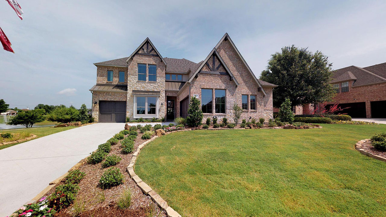 The Homestead model built in Stone Creek by Pacesetter Homes in Dallas