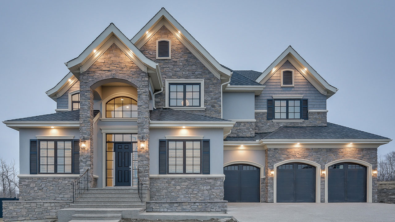 The exterior of the Pieris model built by Augusta Fine Homes in Edmonton.
