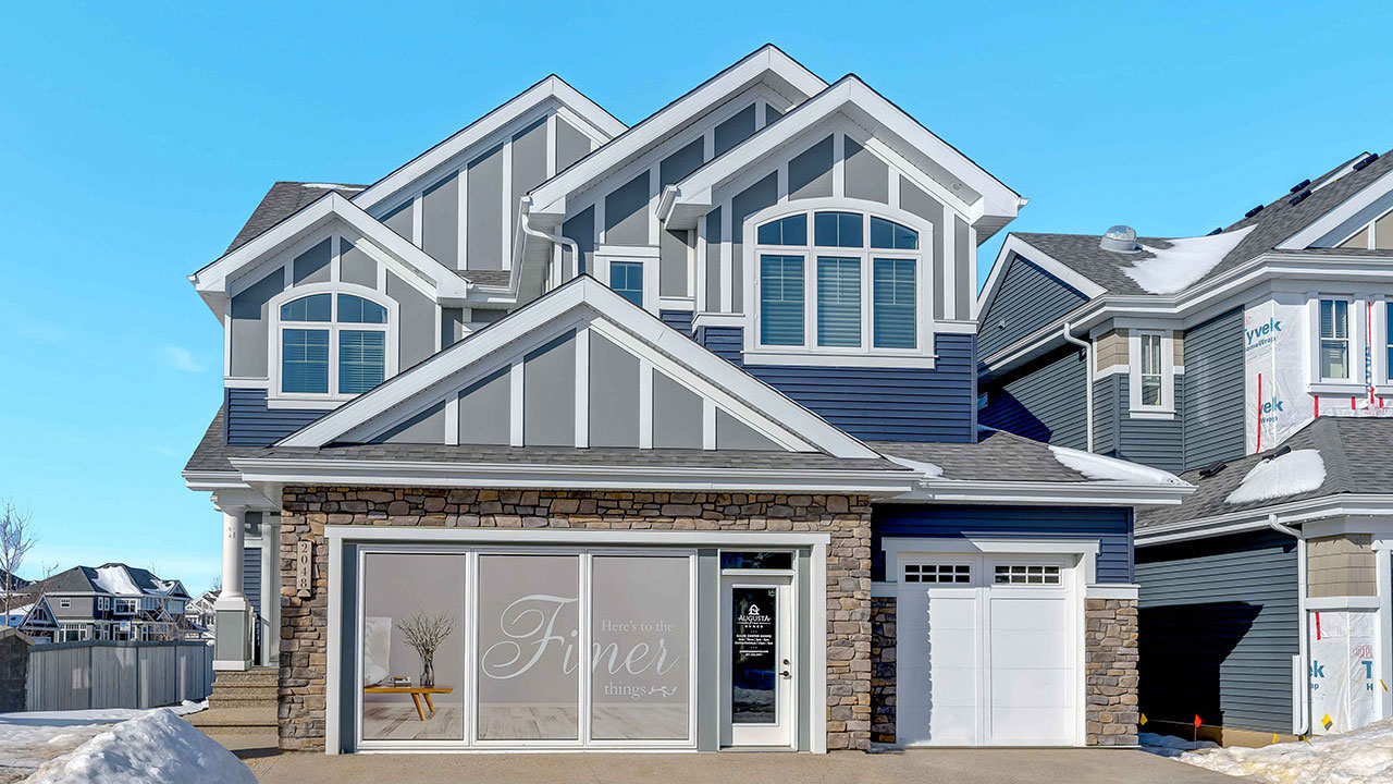 The exterior of a home built by Augusta Fine Homes in the Edmonton community of Summerside.