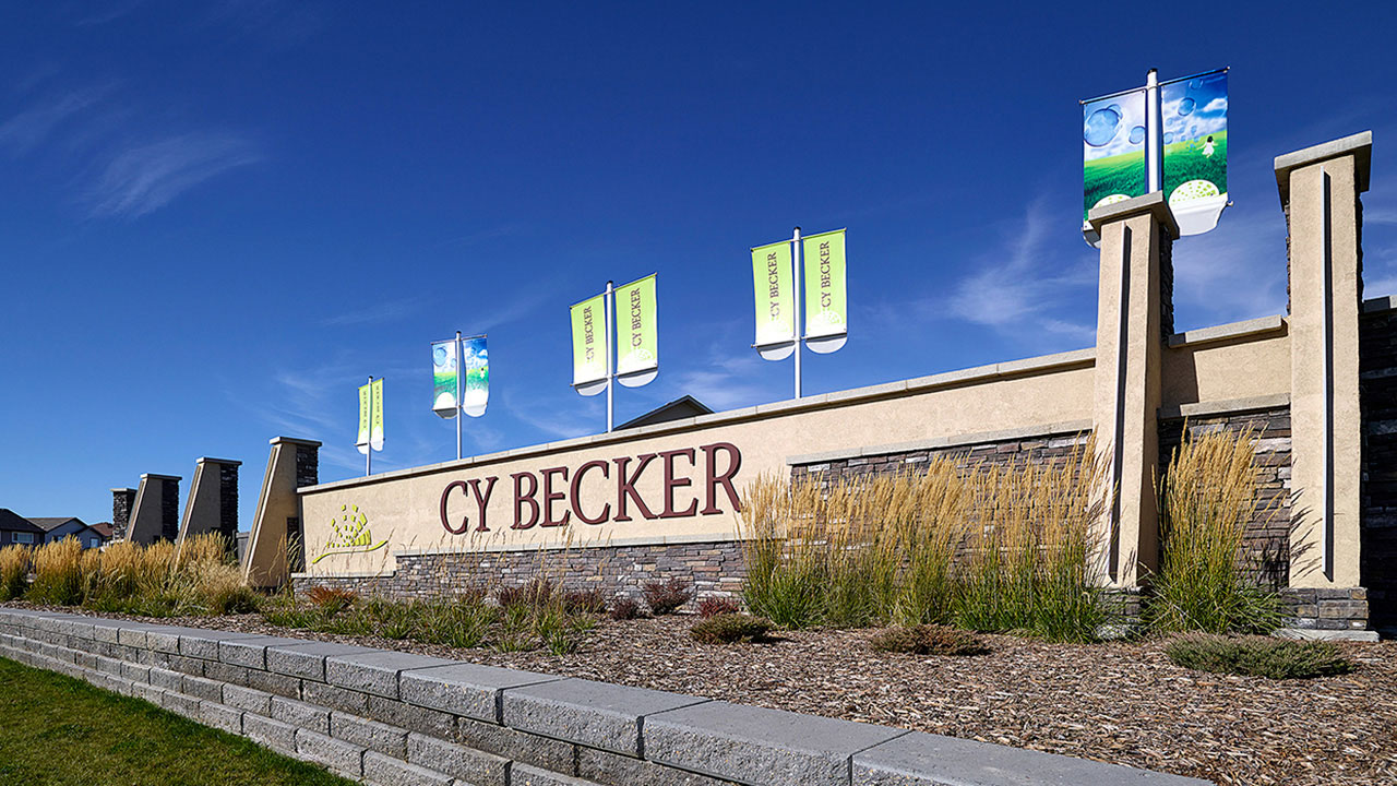 Entry feature in the community of Cy Becker.