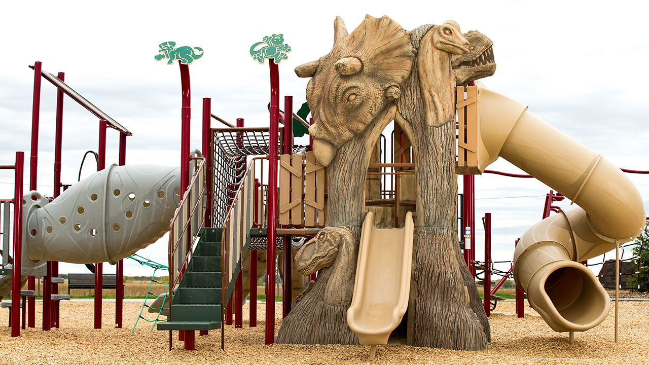 The popular Dino Park in Leduc's community of Meadowview.