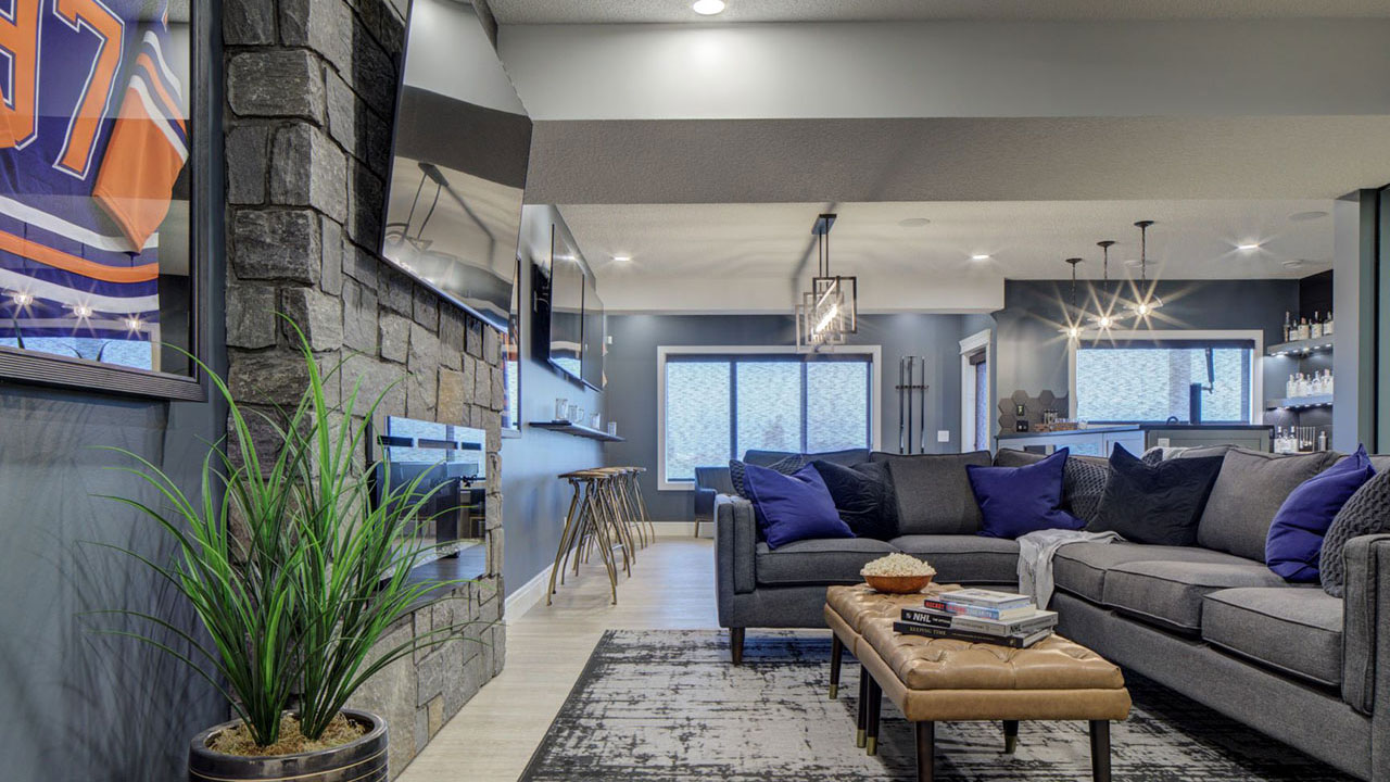 Basement of the Trinity model by Sterling Home Edmonton