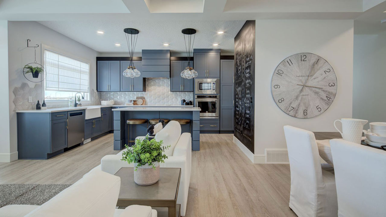 Kitchen in the Trinity model by Sterling Homes Edmonton