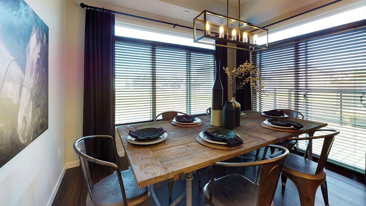 Stylish dining room in a Sterling Home in the community of Westerra.