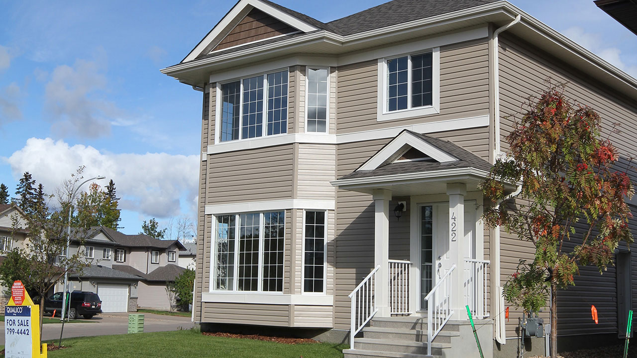 A home in Fort McMurray built by Qualico.