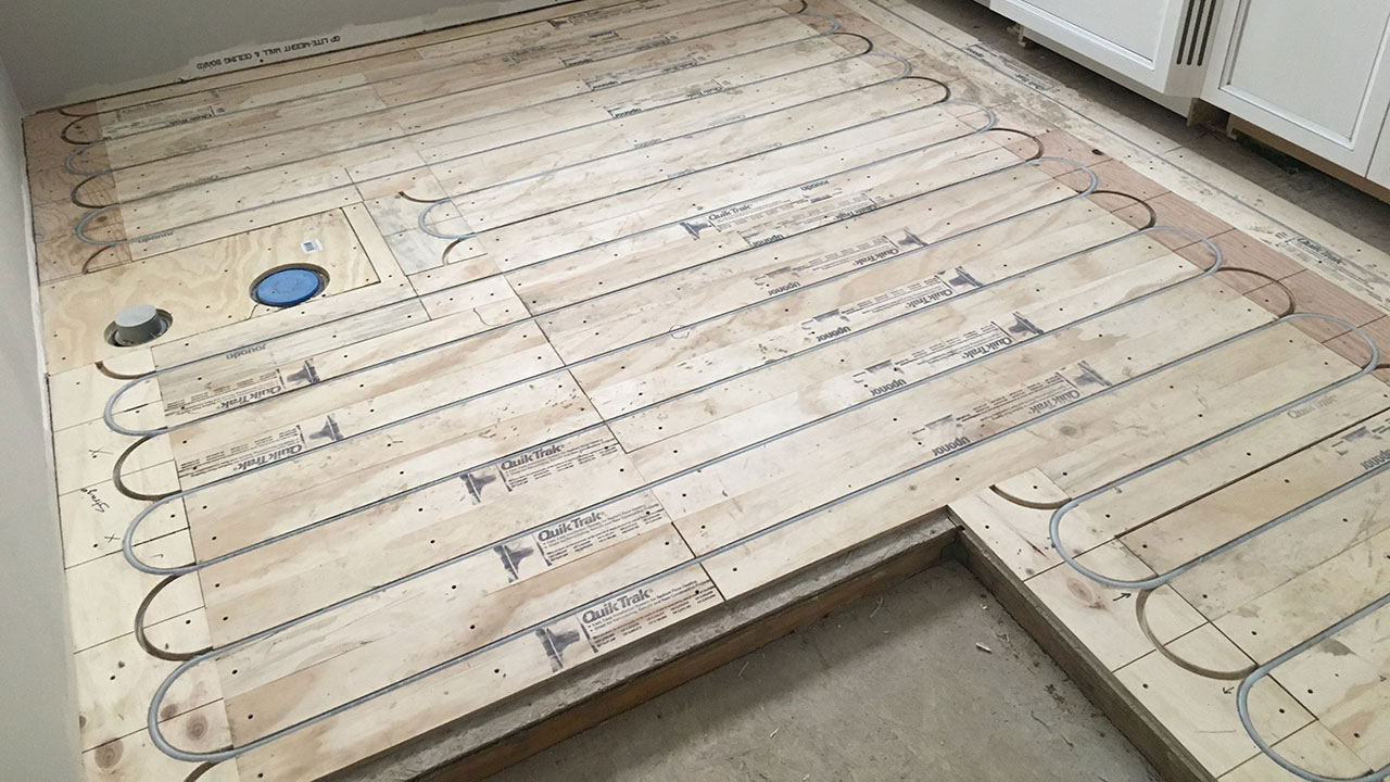 Radiant heating installation in a residential home